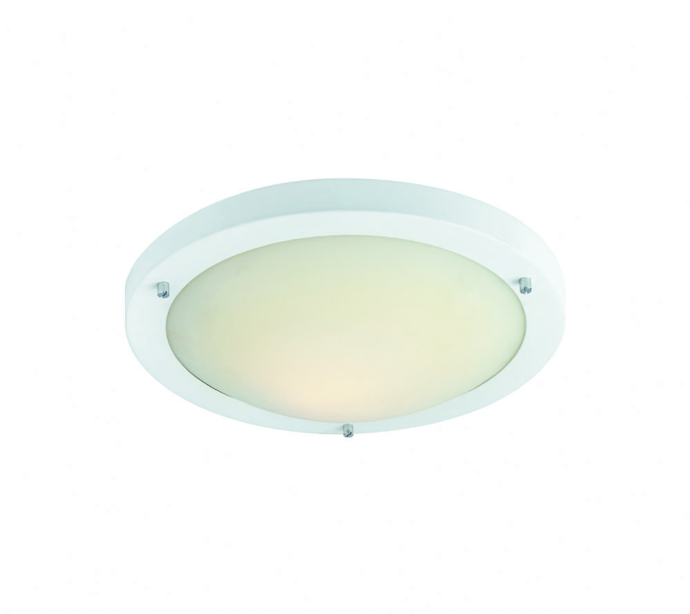 Firstlight 2740WH Matt White with Opal Glass Rondo Flush Fitting